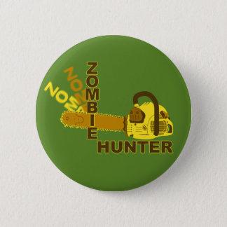 Badge Rond 5 Cm Bouton de chasseur de zombi (arrière - plan vert)