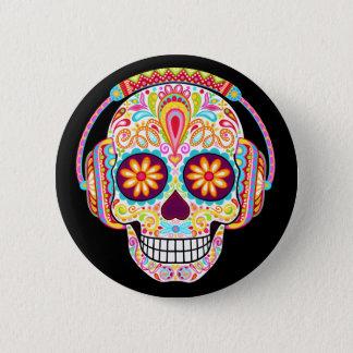 Badge Rond 5 Cm Bouton de crâne de sucre - jour du Pin mort de