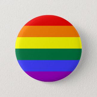 Badge Rond 5 Cm Bouton de drapeau de fierté d'arc-en-ciel