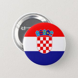 Badge Rond 5 Cm Bouton de drapeau de la Croatie