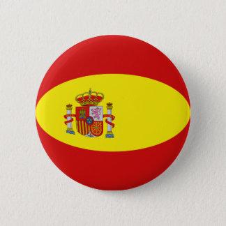Badge Rond 5 Cm Bouton de drapeau de l'Espagne Fisheye