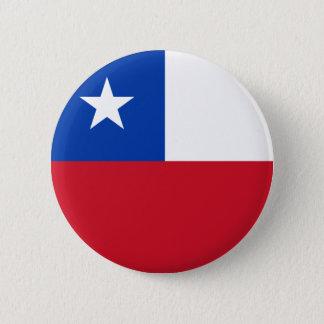 Badge Rond 5 Cm Bouton de drapeau du Chili