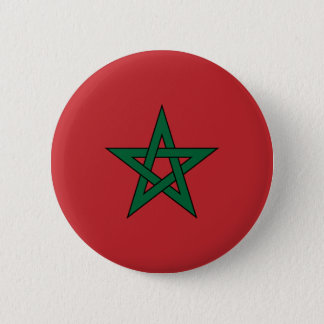 Badge Rond 5 Cm Bouton de drapeau du Maroc