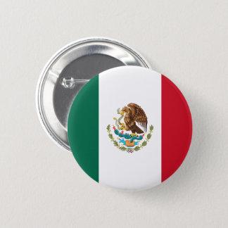 Badge Rond 5 Cm Bouton de drapeau du Mexique