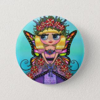 Badge Rond 5 Cm Bouton de fée de pétunia d'Astro