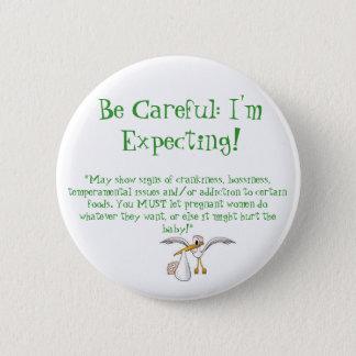 Badge Rond 5 Cm Bouton de femme enceinte