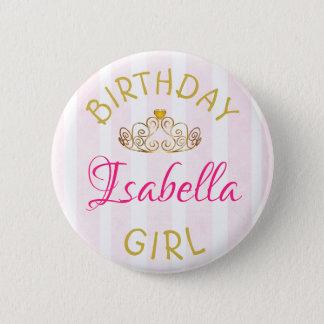 Badge Rond 5 Cm Bouton de fille d'anniversaire