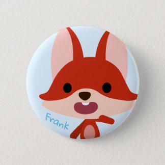 Badge Rond 5 Cm Bouton de Fox de Qkids Frank