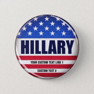 Badge Rond 5 Cm Bouton de Hillary de vote