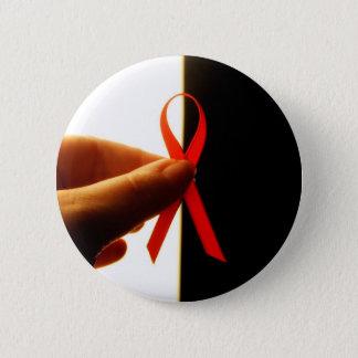 Badge Rond 5 Cm Bouton de Journée mondiale contre le SIDA