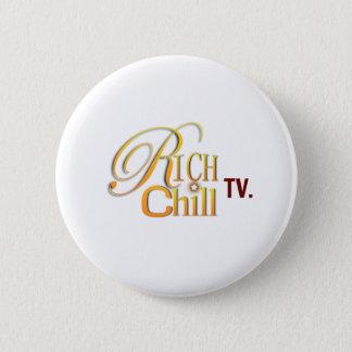 Badge Rond 5 Cm Bouton de logo de RichChillTV