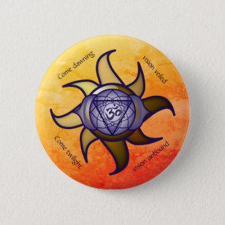 """Badge Rond 5 Cm Bouton de Lotus d'analyse de yoga de """"troisième"""