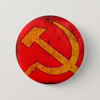 Badge Rond 5 Cm Bouton de marteau et de faucille de l'URSS de
