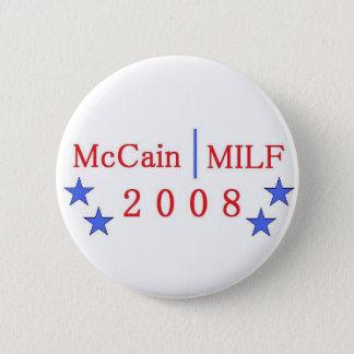 Badge Rond 5 Cm Bouton de McCain/MILF
