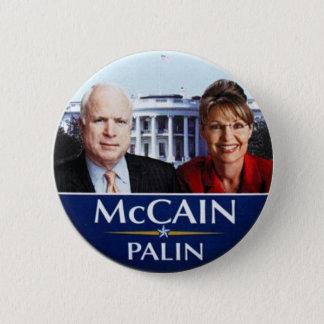 Badge Rond 5 Cm Bouton de McCAIN-Palin