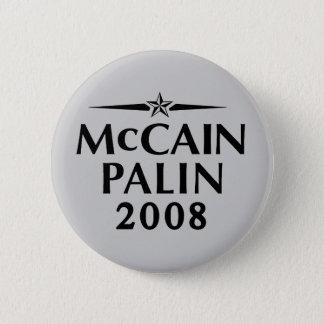 Badge Rond 5 Cm Bouton de McCain Palin 2008