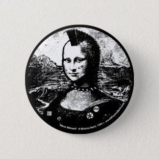 Badge Rond 5 Cm Bouton de Mohawk de Mona