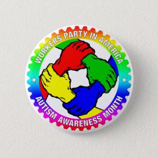 Badge Rond 5 Cm Bouton de mois de sensibilisation sur l'autisme de