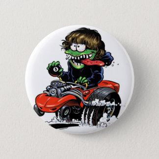 Badge Rond 5 Cm Bouton de monstre de hot rod