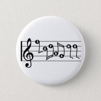 Badge Rond 5 Cm Bouton de musical de chanteur de soprano