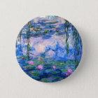 Badge Rond 5 Cm Bouton de nénuphars de Monet