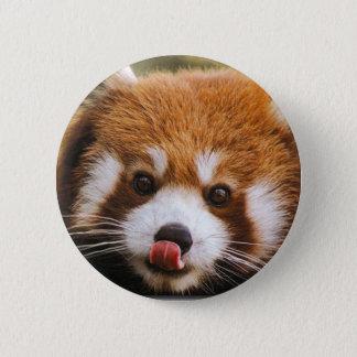 Badge Rond 5 Cm Bouton de panda rouge