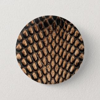Badge Rond 5 Cm Bouton de peau de serpent