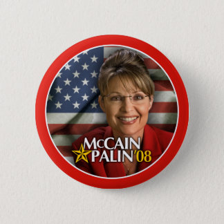 Badge Rond 5 Cm Bouton de photo de Sarah Palin