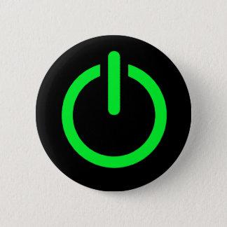 Badge Rond 5 Cm Bouton de puissance