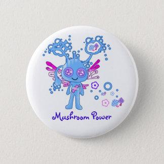 Badge Rond 5 Cm Bouton de puissance de champignon de Kawaii