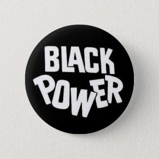 Badge Rond 5 Cm Bouton de puissance noire