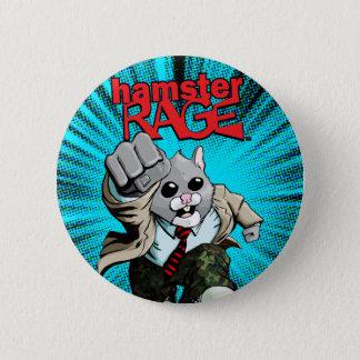 Badge Rond 5 Cm Bouton de rage de hamster