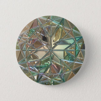 Badge Rond 5 Cm Bouton de regard de verre taillé en verre souillé/