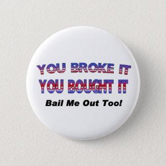 Badge Rond 5 Cm Bouton de renflouement fédéral