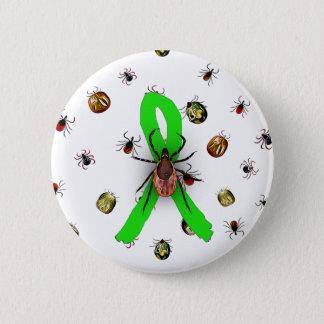 Badge Rond 5 Cm Bouton de ruban de la maladie de Lyme de