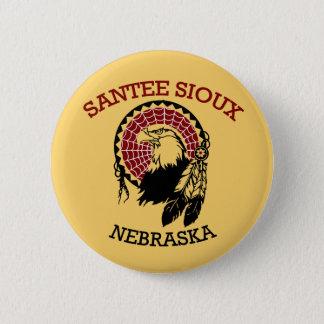 Badge Rond 5 Cm Bouton de Santee Sioux