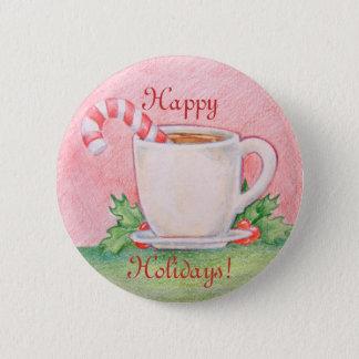 Badge Rond 5 Cm Bouton de thé de menthe poivrée