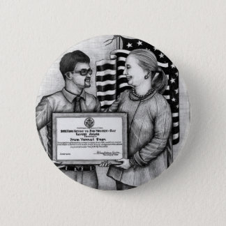 Badge Rond 5 Cm Bouton de Vannak rencontrant Hillary Rodham