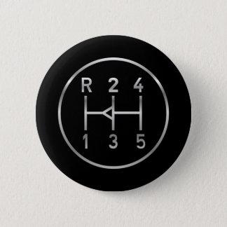 Badge Rond 5 Cm Bouton de vitesse de voiture de sport, motif de