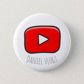 Badge Rond 5 Cm Bouton de youtube de vlogs de Daniel