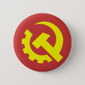 Badge Rond 5 Cm Bouton des Etats-Unis de parti communiste
