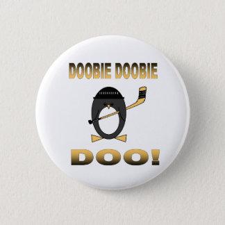 Badge Rond 5 Cm Bouton d'hockey de pingouin