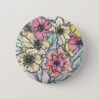 Badge Rond 5 Cm Bouton floral