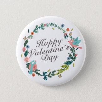 Badge Rond 5 Cm Bouton floral de guirlande de Saint-Valentin