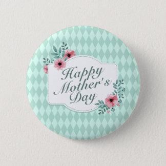 Badge Rond 5 Cm Bouton floral heureux élégant de cadre du jour de