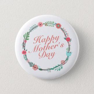 Badge Rond 5 Cm Bouton floral heureux élégant de guirlande du jour