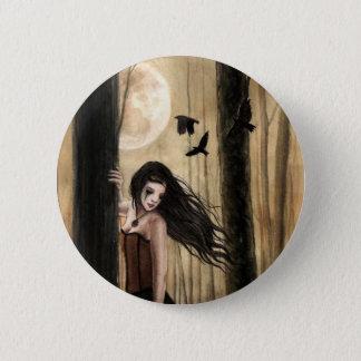 Badge Rond 5 Cm Bouton gothique de Lament lunaire