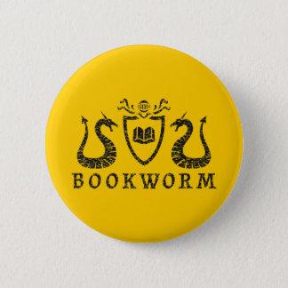 Badge Rond 5 Cm Bouton héraldique de rat de bibliothèque