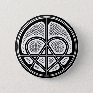 Badge Rond 5 Cm Bouton humanitaire de symbole d'ANARCHIE d'AMOUR