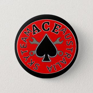Badge Rond 5 Cm bouton/insigne de cavaliers d'as de skyteam